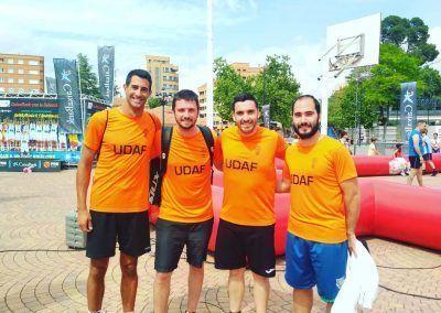 Udaf con el baloncesto